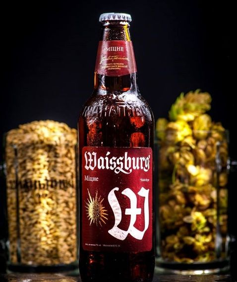 Uman brewery received gold for the design of the label brand Waissburg